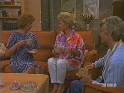 Madge Mitchell, Rosemary Daniels, Helen Daniels in Neighbours Episode 0195