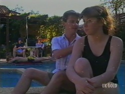 Max Ramsay, Madge Mitchell, Danny Ramsay, Nikki Dennison in Neighbours Episode 0195