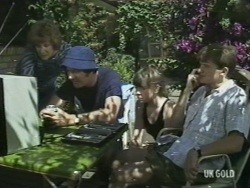 Madge Mitchell, Max Ramsay, Nikki Dennison, Danny Ramsay in Neighbours Episode 0196