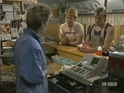Daphne Clarke, Clive Gibbons, Shane Ramsay in Neighbours Episode 0197