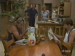 Shane Ramsay, Max Ramsay, Madge Bishop, Danny Ramsay in Neighbours Episode 0199