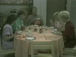 Nikki Dennison, Scott Robinson, Jim Robinson, Helen Daniels, Rosemary Daniels in Neighbours Episode 0203