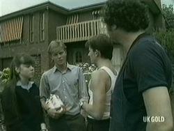 Nikki Dennison, Scott Robinson, Danny Ramsay, Max Ramsay in Neighbours Episode 0203