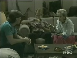 Mike Young, Clive Gibbons, Daphne Clarke in Neighbours Episode 0205