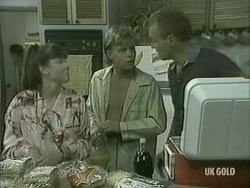Nikki Dennison, Scott Robinson, Jim Robinson in Neighbours Episode 0205