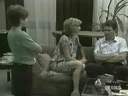 Bradley Townsend, Andrea Townsend, Des Clarke in Neighbours Episode 0207