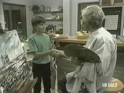 Bradley Townsend, Lucy Robinson, Helen Daniels in Neighbours Episode 0207