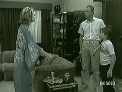 Andrea Townsend, Jim Robinson, Bradley Townsend in Neighbours Episode 0210
