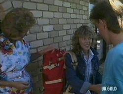 Madge Bishop, Charlene Mitchell, Scott Robinson in Neighbours Episode 0235
