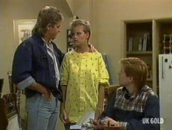Shane Ramsay, Daphne Clarke, Clive Gibbons in Neighbours Episode 0235