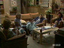 Madge Bishop, Charlene Mitchell, Danny Ramsay, Shane Ramsay, Max Ramsay in Neighbours Episode 0235