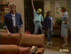 Shane Ramsay, Danny Ramsay, Charlene Mitchell, Madge Bishop in Neighbours Episode 0235
