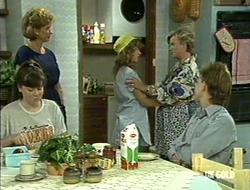 Nikki Dennison, Madge Bishop, Charlene Mitchell, Helen Daniels, Scott Robinson in Neighbours Episode 0236