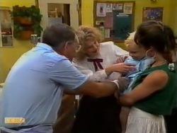 Harold Bishop, Madge Bishop, Sky Mangel, Kerry Bishop in Neighbours Episode 0941