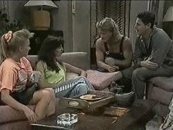 Bronwyn Davies, Poppy Skouros, Henry Ramsay, Joe Mangel in Neighbours Episode 0942
