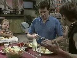 Jamie Clarke, Des Clarke, Mike Young in Neighbours Episode 0942