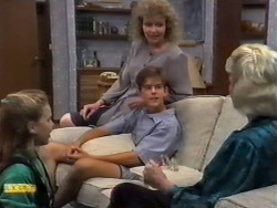 Katie Landers, Beverly Marshall, Todd Landers, Helen Daniels in Neighbours Episode 0943