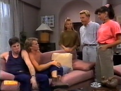 Joe Mangel, Henry Ramsay, Bronwyn Davies, Scott Robinson, Poppy Skouros in Neighbours Episode 0943