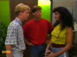 Scott Robinson, Mike Young, Poppy Skouros in Neighbours Episode 0946