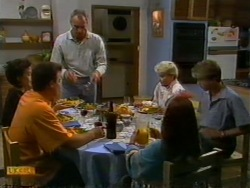 Gail Robinson, Paul Robinson, Jim Robinson, Helen Daniels, Katie Landers, Nick Page in Neighbours Episode 0947