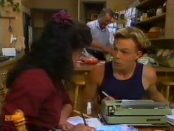 Poppy Skouros, Harold Bishop, Scott Robinson in Neighbours Episode 0947