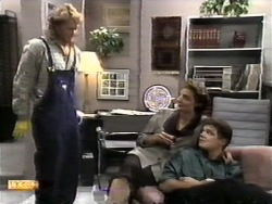 Henry Ramsay, Gail Robinson, Paul Robinson in Neighbours Episode 0948