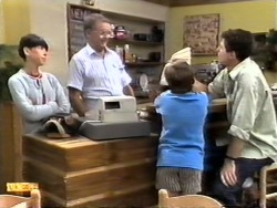 Hilary Robinson, Harold Bishop, Toby Mangel, Joe Mangel in Neighbours Episode 0948