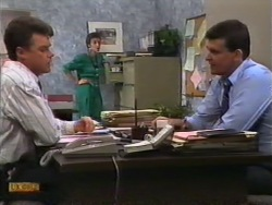 Paul Robinson, Gail Robinson, Des Clarke in Neighbours Episode 0949