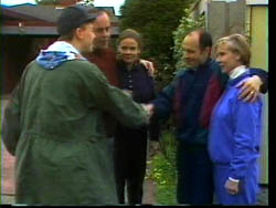Michael Martin, Philip Martin, Julie Robinson, Benito Alessi, Cathy Alessi in Neighbours Episode 1778