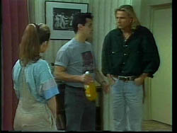 Beth Brennan, Marco Alessi, Brad Willis in Neighbours Episode 1778