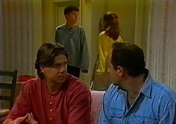 Cameron Hudson, Michael Martin, Julie Martin, Philip Martin in Neighbours Episode 1827