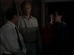 Benito Alessi, Jim Robinson, Cathy Alessi, Rick Alessi in Neighbours Episode 1829