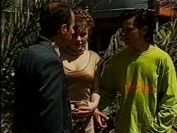 Benito Alessi, Debbie Martin, Rick Alessi in Neighbours Episode 1829