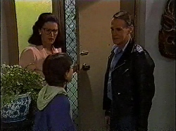 Dorothy Burke, Toby Mangel, Tom Merrick in Neighbours Episode 1830