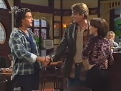 Drew Kirk, Mike Healy, Libby Kennedy in Neighbours Episode 3146