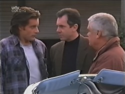 Drew Kirk, Karl Kennedy, Lou Carpenter in Neighbours Episode 3148