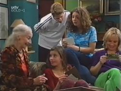 Lily Madigan, Lance Wilkinson, Anne Wilkinson, Hannah Martin, Ruth Wilkinson in Neighbours Episode 3149