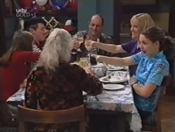 Anne Wilkinson, Lance Wilkinson, Lily Madigan, Philip Martin, Ruth Wilkinson, Hannah Martin in Neighbours Episode 3150
