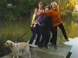 Bonnie, Hannah Martin, Lance Wilkinson, Anne Wilkinson, Philip Martin, Ruth Wilkinson in Neighbours Episode 3153