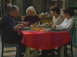 Harold Bishop, Madge Bishop, Paul McClain, Hannah Martin in Neighbours Episode 3154