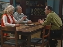 Madge Bishop, Harold Bishop, Philip Martin in Neighbours Episode 3155