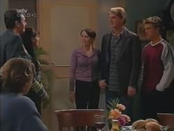Joel Samuels, Karl Kennedy, Susan Kennedy, Libby Kennedy, Mike Healy, Billy Kennedy in Neighbours Episode 3157