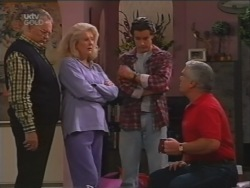 Harold Bishop, Madge Bishop, Drew Kirk, Lou Carpenter in Neighbours Episode 3160