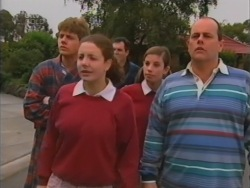 Lance Wilkinson, Hannah Martin, Karl Kennedy, Anne Wilkinson, Philip Martin in Neighbours Episode 3163