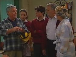 Lou Carpenter, Hannah Martin, Paul McClain, Harold Bishop, Madge Bishop in Neighbours Episode 3163