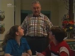 Hannah Martin, Harold Bishop, Paul McClain in Neighbours Episode 3164