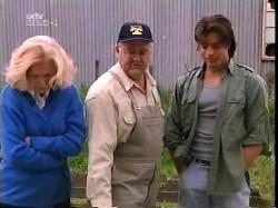 Madge Bishop, Harold Bishop, Drew Kirk in Neighbours Episode 3226
