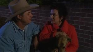 Joe Mangel, Lyn Scully, Bouncer 5 in Neighbours Episode 4833