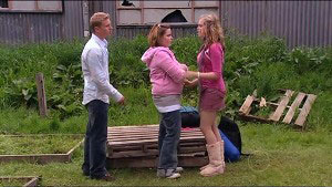 Boyd Hoyland, Bree Timmins, Janae Timmins in Neighbours Episode 4901