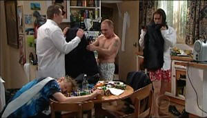Kevin Rebecchi, Toadie Rebecchi, Kim Timmins, Dylan Timmins in Neighbours Episode 4979